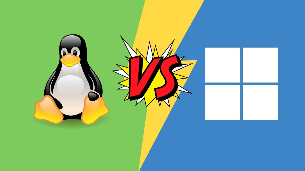 linux vs windows, widows vs linux, difference between linux and windows, difference between os