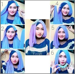 Hijab Segi Empat Simpel dan Elegan