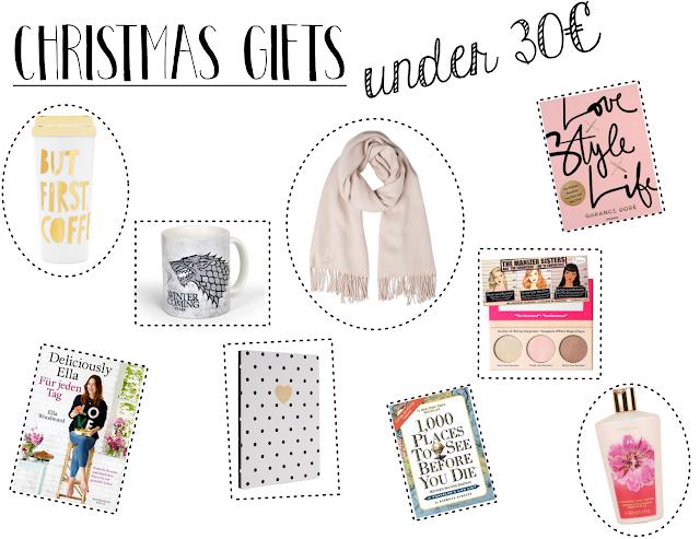 christmas gift guide for girls 2016, geschenkideen für die freundin oder mama, unter 10€, unter 30€, unter 50€, wichtelgeschenke, günstige weihnachtsgeschenke, lifestyleblog aus hessen