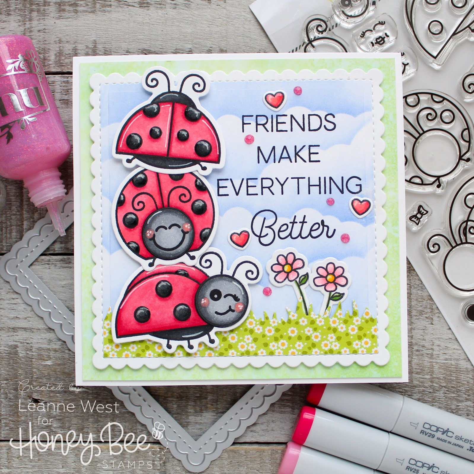 Needless To Say I Love The Little Ladies Stamp Set From Honey Bee Stamps Ive Used Three Of Ladybugs On Todays Card