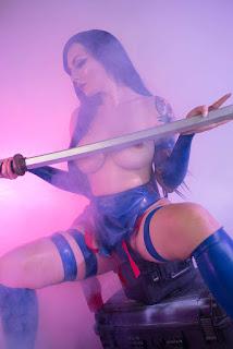 katyuska moonfox sexy topless psylock cosplay 05