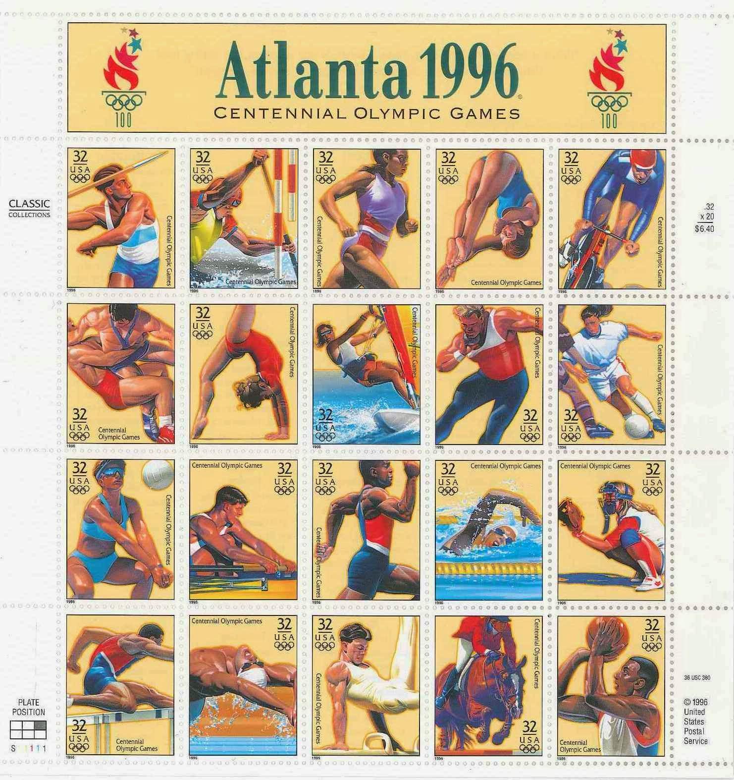 Minhas coleções de cartões e selos postais  Atlanta 0b7ea0dbbe838