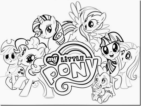 Blog MegaDiverso: Little Pony Para Pintar Dibujos