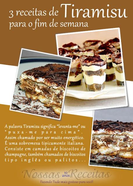 """Receita fácil e original do tiramisu italiano para servir na taça, se preferir.  A palavra Tiramisu significa """"levanta-me"""" ou """"puxa-me para cima"""". Assim chamado por ser muito energético. É uma sobremesa tipicamente italiana. Consiste em camadas de biscoitos de champagne, também chamados de biscoitos tipo inglês ou palitos a la reine (ítem este que pode ser substituído por pão de ló) embebidas em café entremeadas por um creme à base de queijo mascarpone, creme de leite fresco, ovos, açúcar, vinho do tipo Marsala e polvilhadas com cacau em pó. Mas a receita original comporta muitas variações. (confeiteiros profissionais geralmente dão preferência ao uso do café solúvel, tipo Nescafé, por ele permitir maior precisão no controle da receita)"""