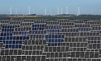 A solar plant in El Bonillo, Albacete province, Spain. The EU is on track to achieve its goals of a 20% emissions cuts and 20% renewable energy share by 2020. (Photograph Credit: Pablo Blazquez Dominguez/Getty Images) Click to Enlarge.