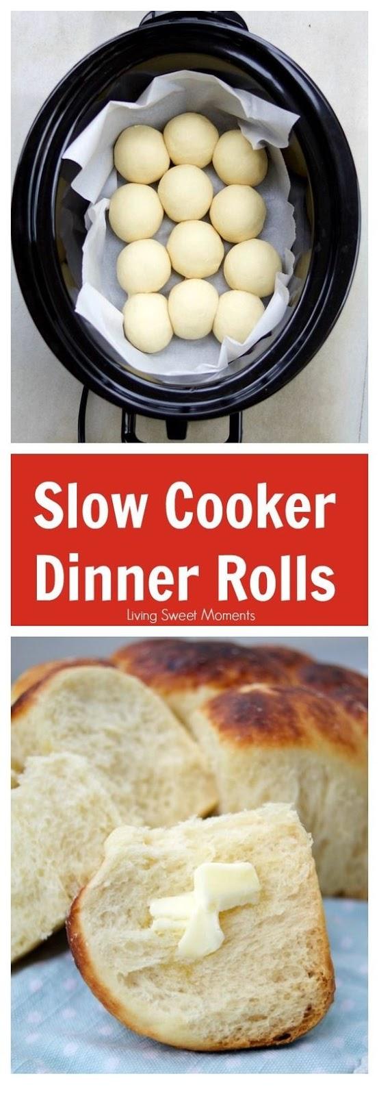 Easy Slow Cooker Dinner Rolls