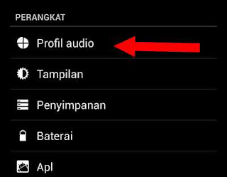 pengaturan profil audio