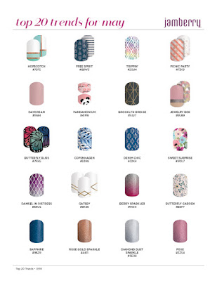 Top Trends in NailArt - May 2016 Jamberry nail wraps by Noel Giger, Founding Executive