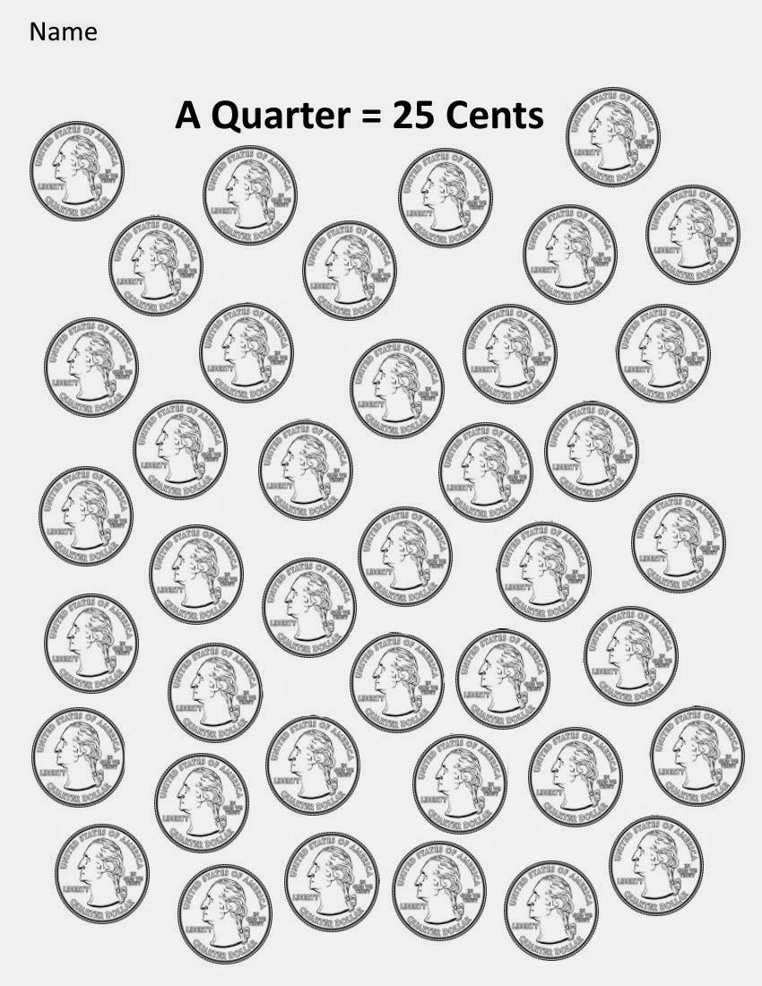 Kindergarten and Mooneyisms: Coins, Part Four: A Quarter