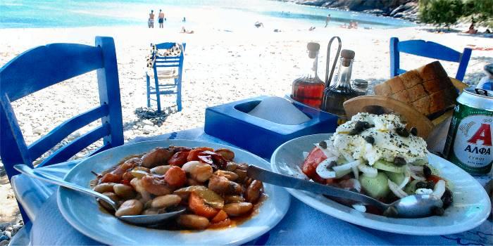 Taverne con piatti senza glutine nelle isole greche