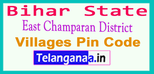 East Champaran District Pin Codes in Bhihar State