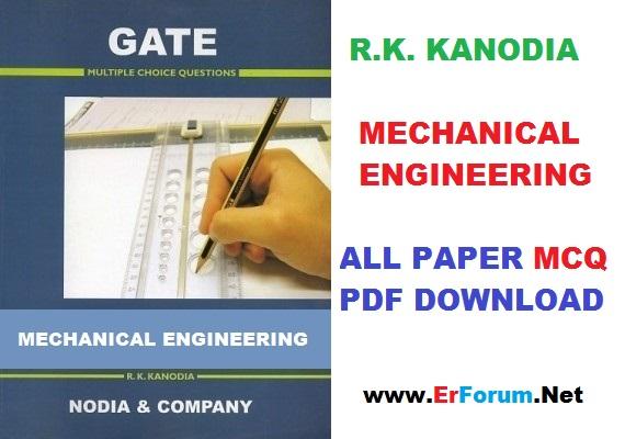 PDF RKKANODIA GATE Mechanical Engineering MCQ - ErForum