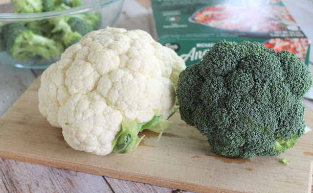 Roasted Broccoli and Cauliflower with Parmesan and Michael Angelo