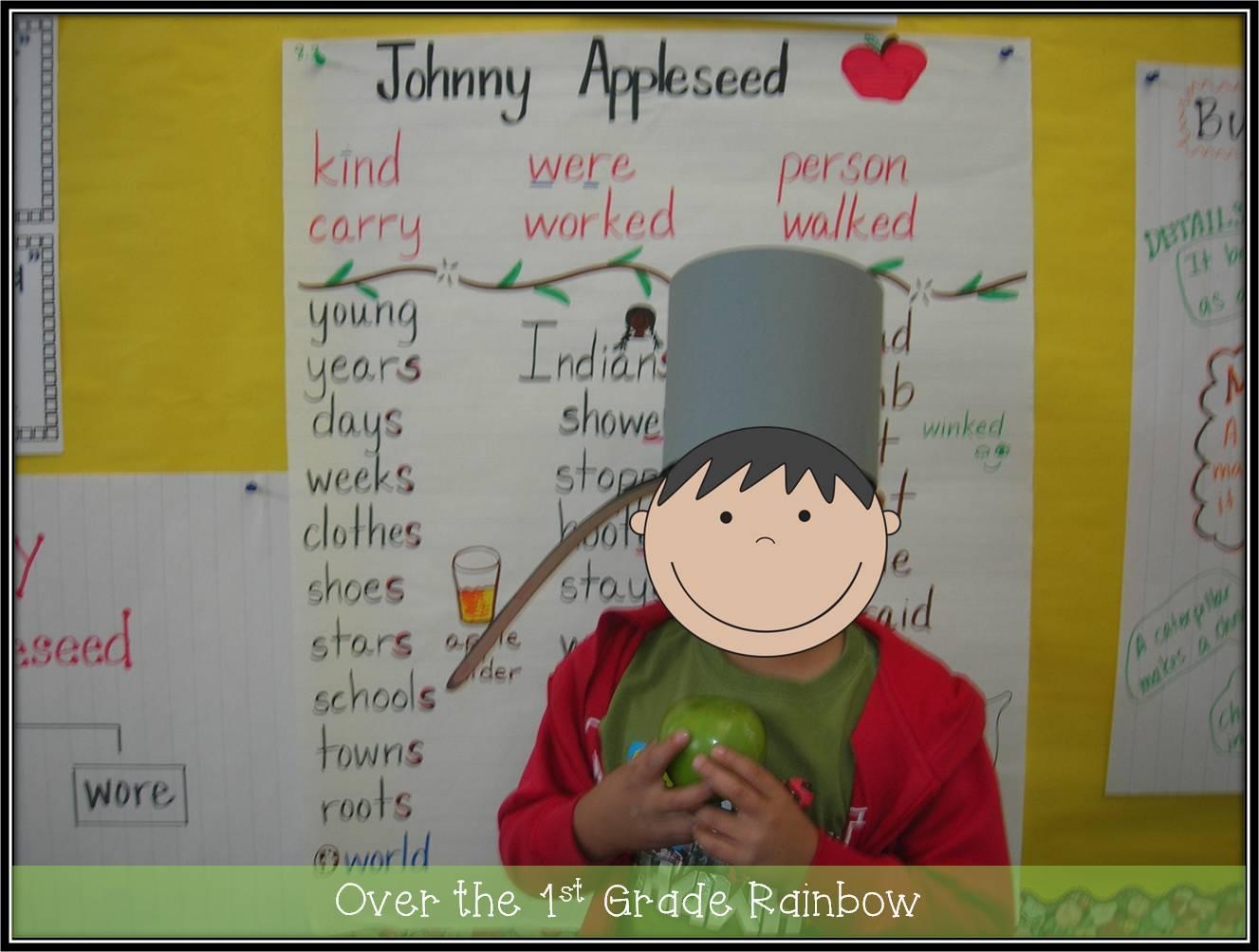 Over The 1st Grade Rainbow Johnny Appleseed Amp Apple Fun