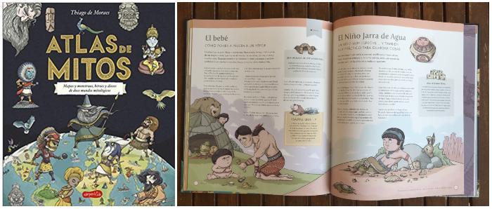 libro informativo recomendado +8 edad Atlas de mitos harper kids