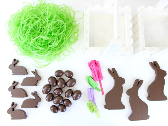 chocolate Easter basket supplies