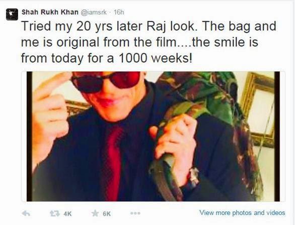 Old DDLJ look of Shahrukh Khan