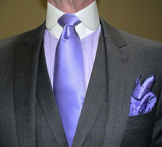 Detachable collar with tie and shirt