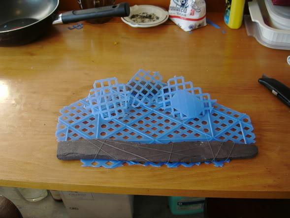 Hướng dẫn trải nền bằng rêu Ricca thủy sinh - chuẩn bị giá thể là miếng nhựa