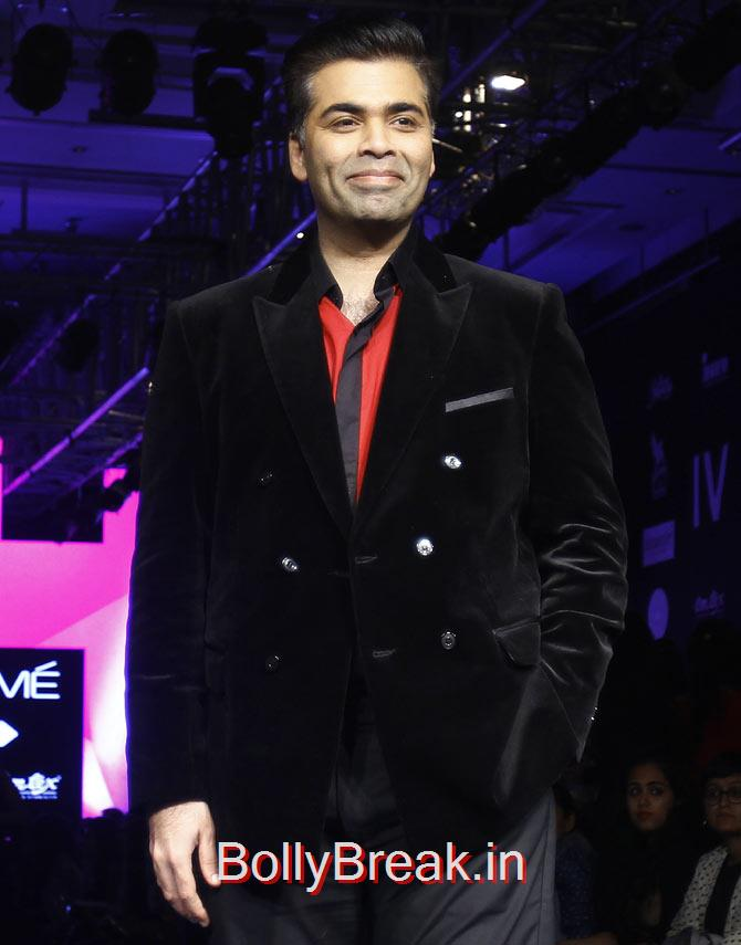Karan Johar, Bollywood Celebs Pics from Lakme fashion Week 2015 Day 3