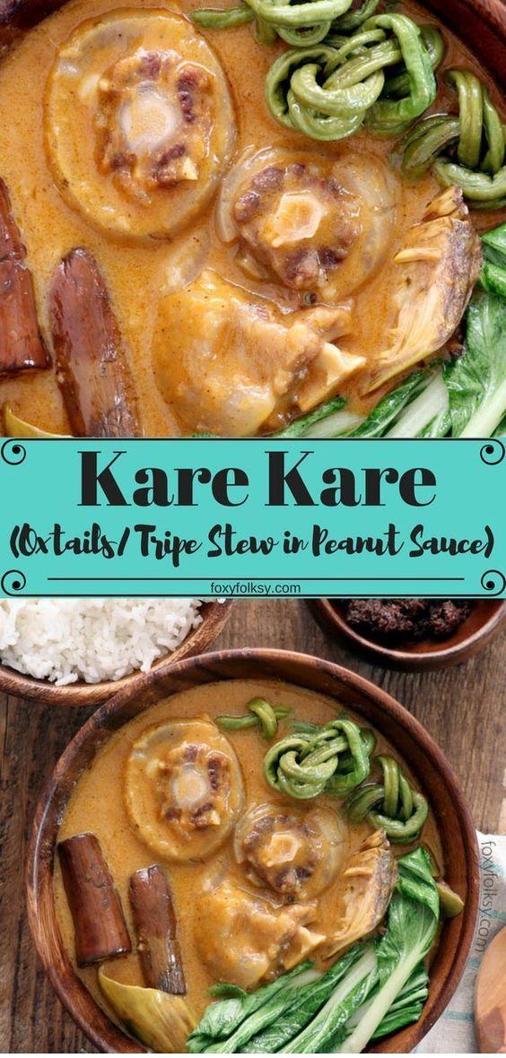 Kare Kare Recipe (Oxtail & Tripe Stew In Peanut Sauce)