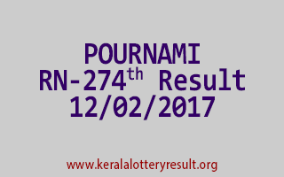 POURNAMI RN 274 Lottery Results 12-02-2017
