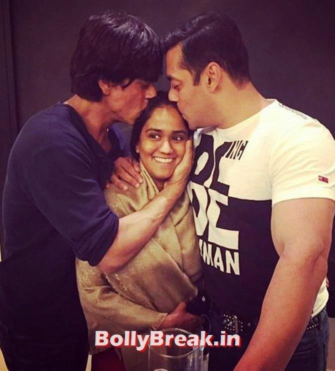 , Shah Rukh Khan & Salman Khan at Arpita Khan Wedding Sangeet