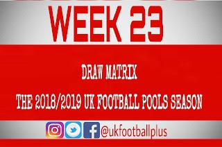 WEEK 23: UK FOOTBALL POOLS   15-12-2018   www.ukfootballplus.com.ng