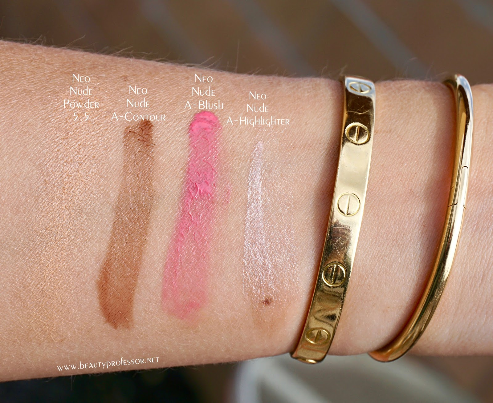 armani neo nude collection swatches