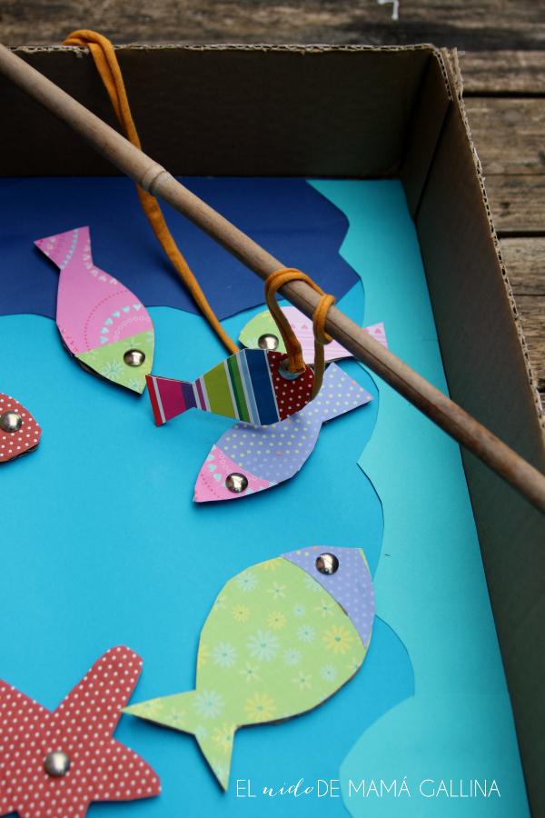 Diy Juego De Pesca Reciclando Una Caja De Carton Diogeneras El