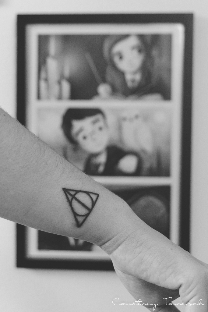 Courtney Tomesch My First Tattoo Harry Potter Deathly Hallows