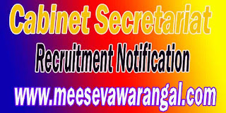 Cabinet Secretariat Recruitment Notification