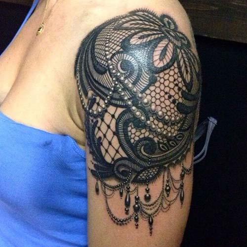 dantel dövmeleri lace tattoos 14
