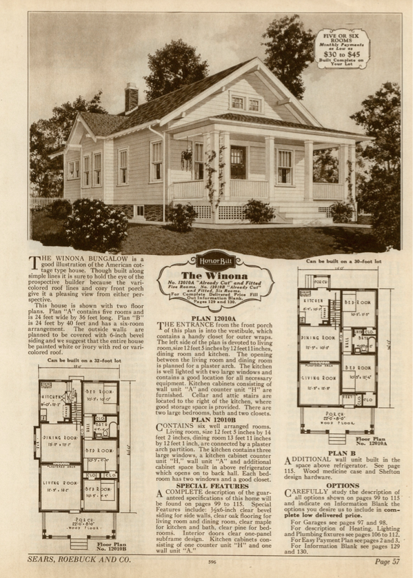 Sears Winona Sears Modern Homes catalog 1930