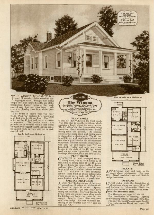 Sears Winona Sears Modern Homes catalog 1930