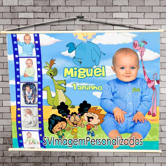 O preço mais barato para banner com mini fotos no tema Meu Amigaozão é muito colorido para festa de menino e menina, para festa infantil será um sucesso em sua mesa de decoração.