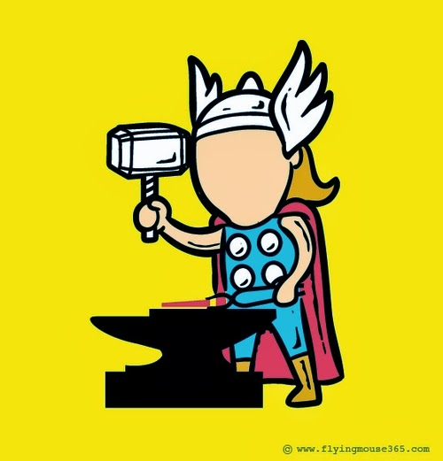 02-Thor-The-Blacksmith-Illustrator-Chow-Hon-Lam-Superheroes-Part-Time Jobs-www-designstack-co