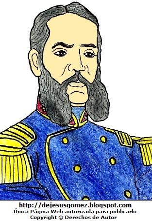 Andrés Avelino Cáceres pintado con otros colores. Dibujo de Andrés Avelino Cáceres hecho por Jesus Gómez