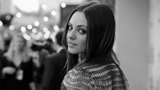Mila Kunis balck and white wallpapers