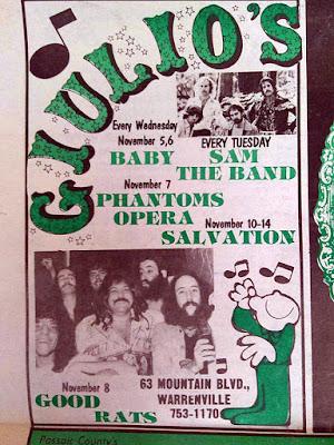 Giulio's band lineup