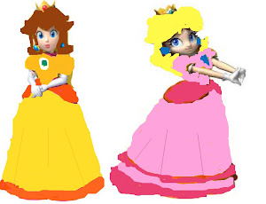 Princess Peach Daisy Tries On Peach S Dress