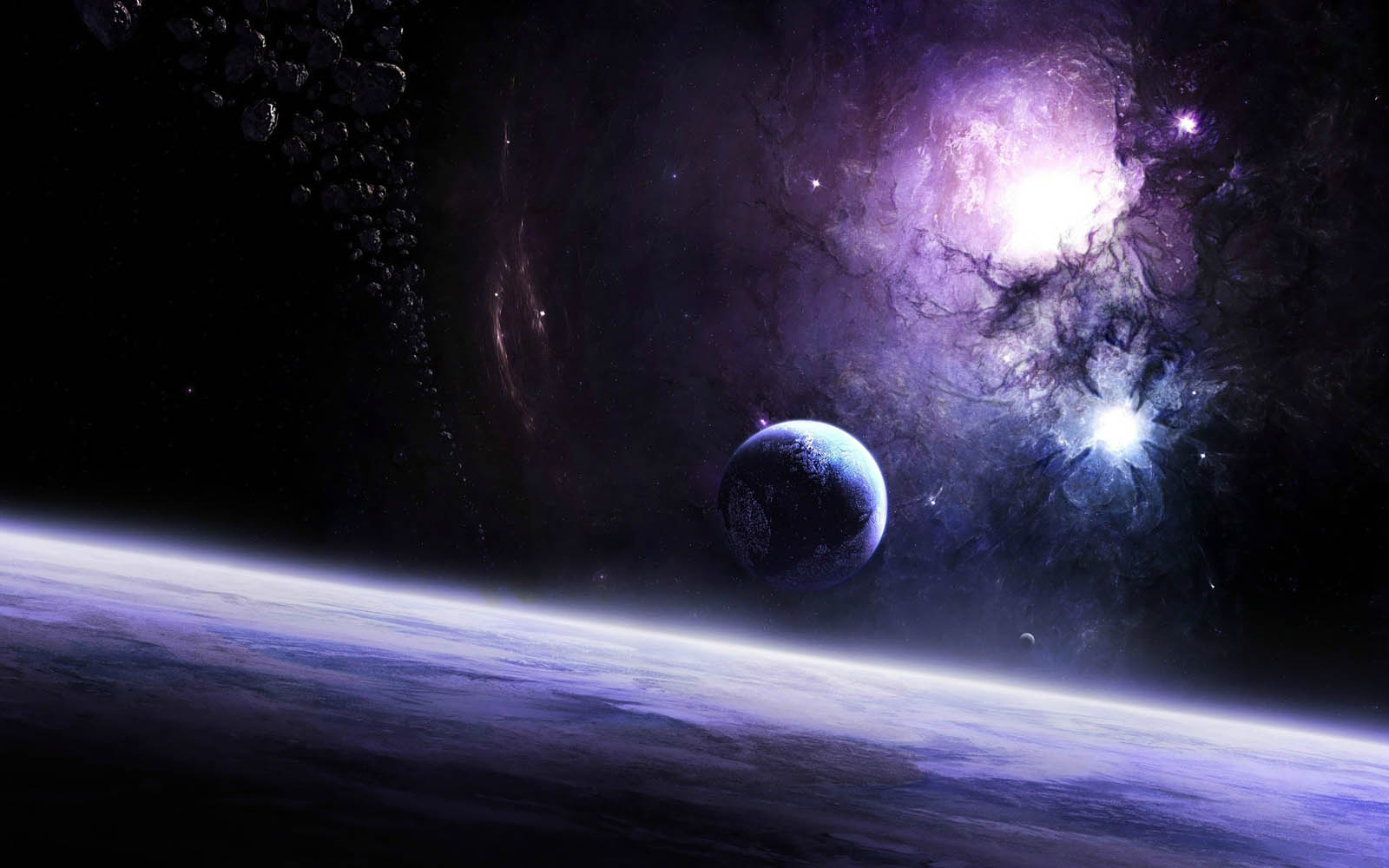 real planets and stars background - photo #29