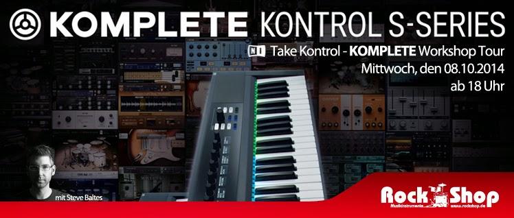 Rock Shop Musikinstrumente Karlsruhe Steve Baltes Native Instruments KOMPLETE Ultimate KONTROL S Take Kontrol Tour