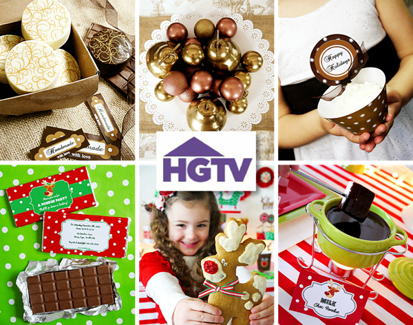 Holiday Party Ideas for HGTV & Free Printables - BirdsParty.com
