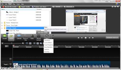 Các công cụ dùng để biên tập video camtasia studio