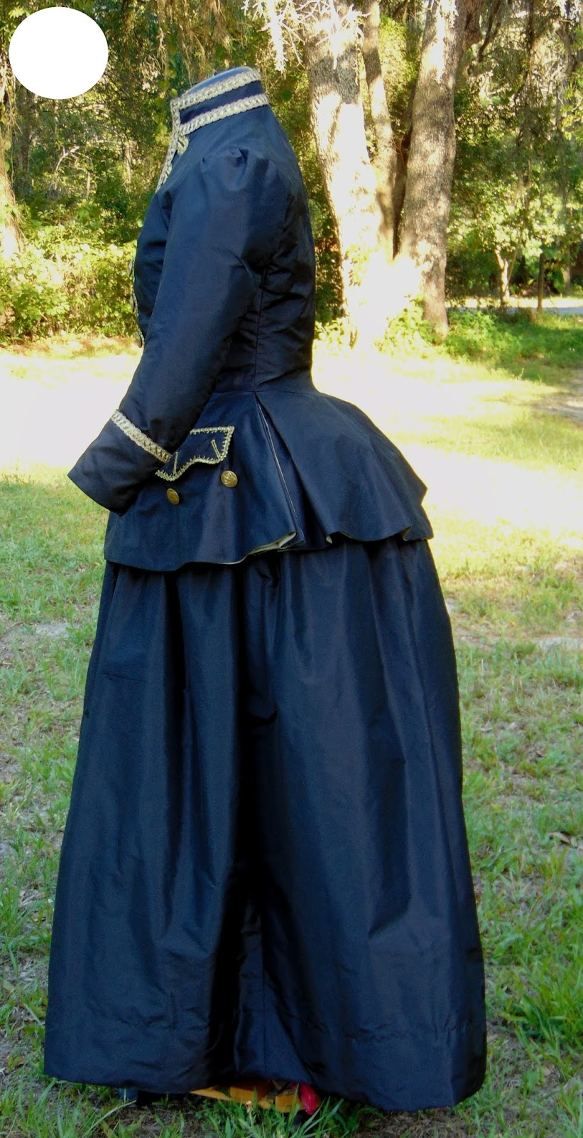 The Antique Sewist: Tailor\'s Guide Riding Habit - Brown Silk Taffeta