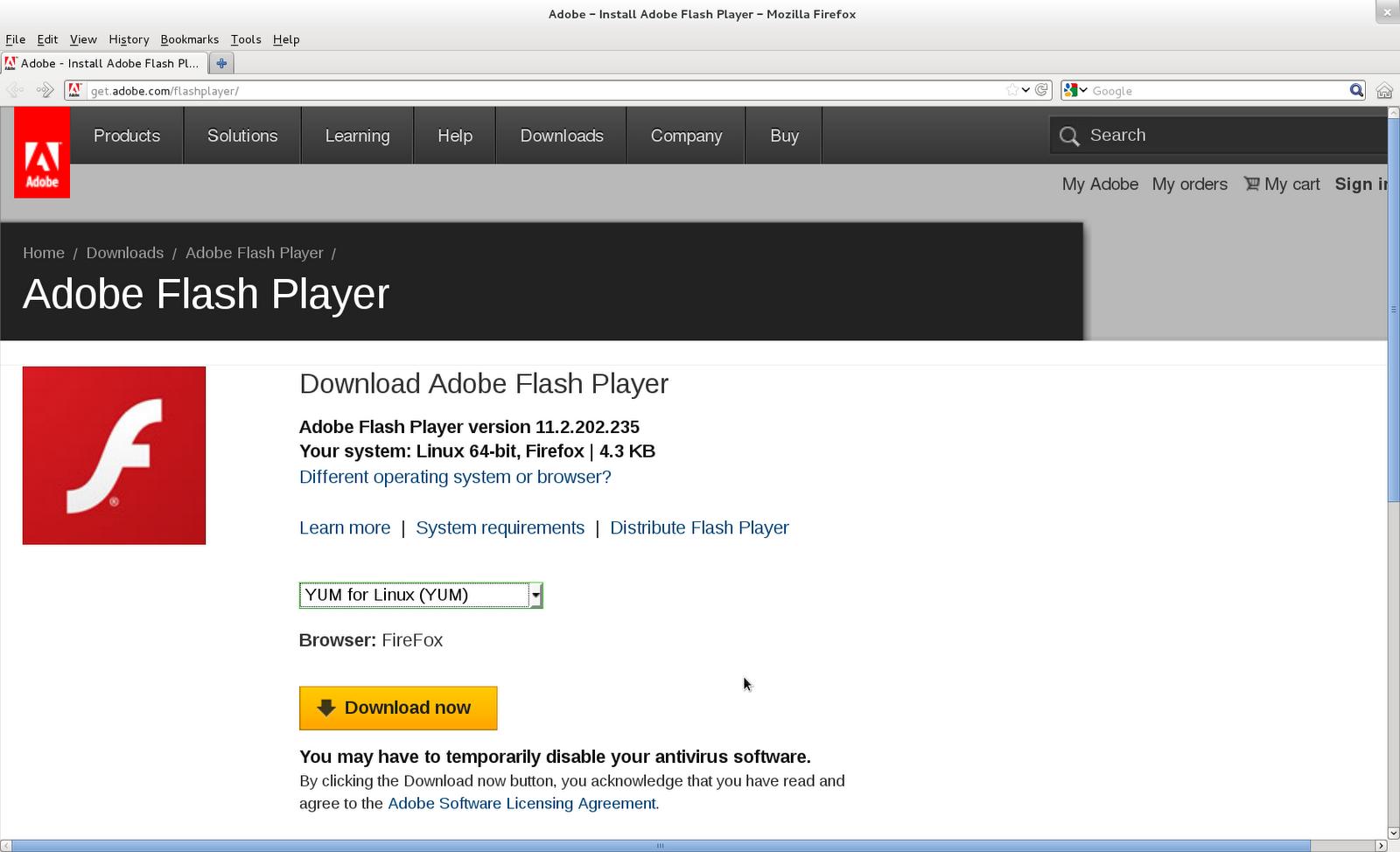 TechnoZeal: Install Adobe Flash Player on Fedora 16 / Fedora 17