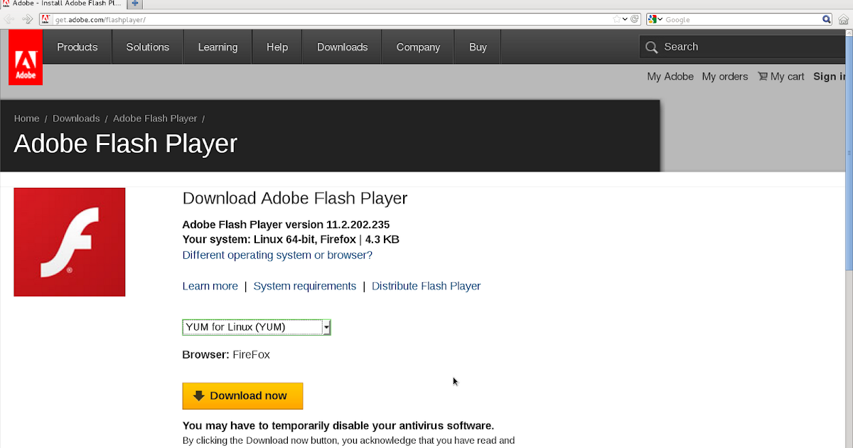 free download flash player for firefox 64 bit