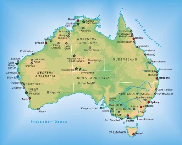 Australien Fläche