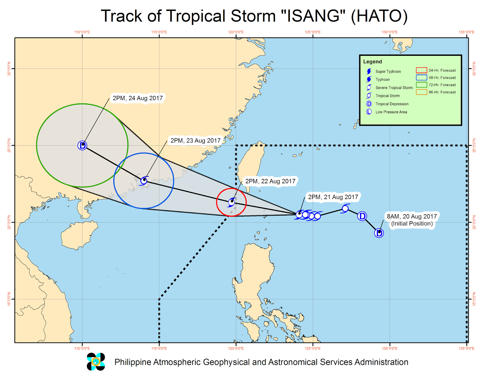 'Bagyong Isang' PAGASA weather update August 21, 2017